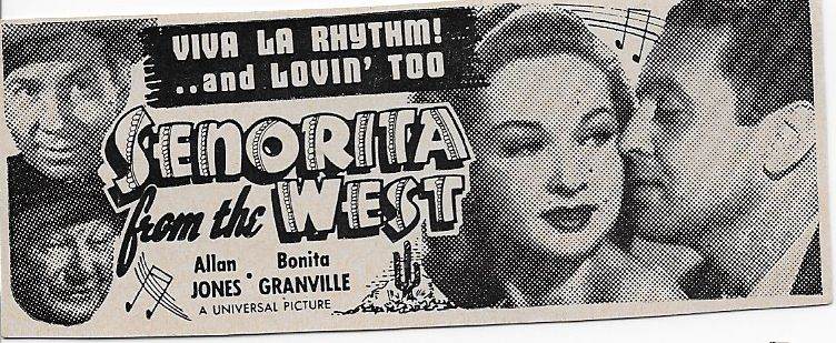George Cleveland, Bonita Granville, Allan Jones, and Fuzzy Knight in Senorita from the West (1945)