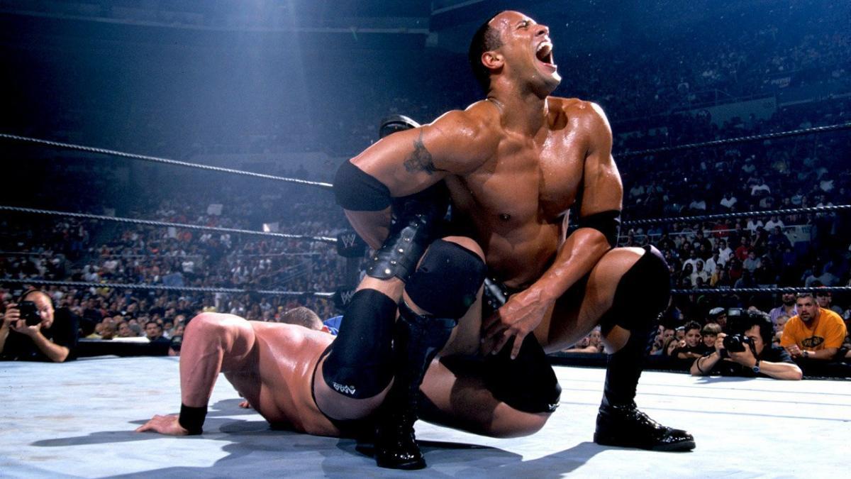 Dwayne Johnson and Brock Lesnar in Summerslam (2002)