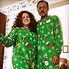 Rizwan Manji and Marissa Jaret Winokur in A Very Nutty Christmas (2018)