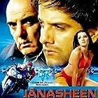 Fardeen Khan, Feroz Khan, and Celina Jaitly in Janasheen (2003)