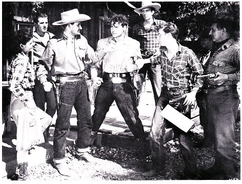 Sunset Carson, Al Ferguson, Forrest Matthews, Polly McKay, and Al Terry in Fighting Mustang (1948)