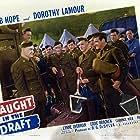 Bob Hope, Eddie Bracken, Paul Hurst, and Lynne Overman in Caught in the Draft (1941)