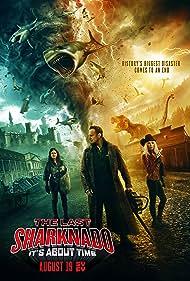 Tara Reid, Ian Ziering, and Cassandra Scerbo in The Last Sharknado: It's About Time (2018)