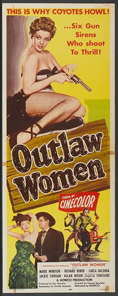 Jacqueline Fontaine, Richard Rober, and Marie Windsor in Outlaw Women (1952)