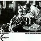 John Gallagher and Ben Gazzara on the set of Blue Moon
