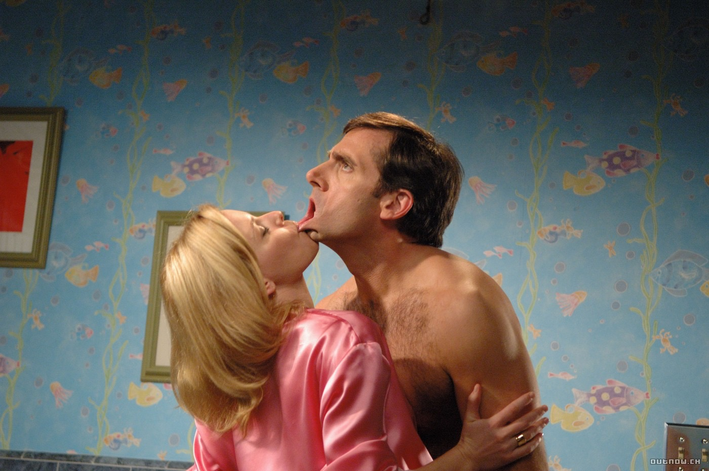 Elizabeth Banks and Steve Carell in The 40 Year Old Virgin (2005)