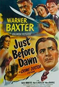 Mona Barrie, Warner Baxter, Martin Kosleck, Marvin Miller, and Adele Roberts in Just Before Dawn (1946)