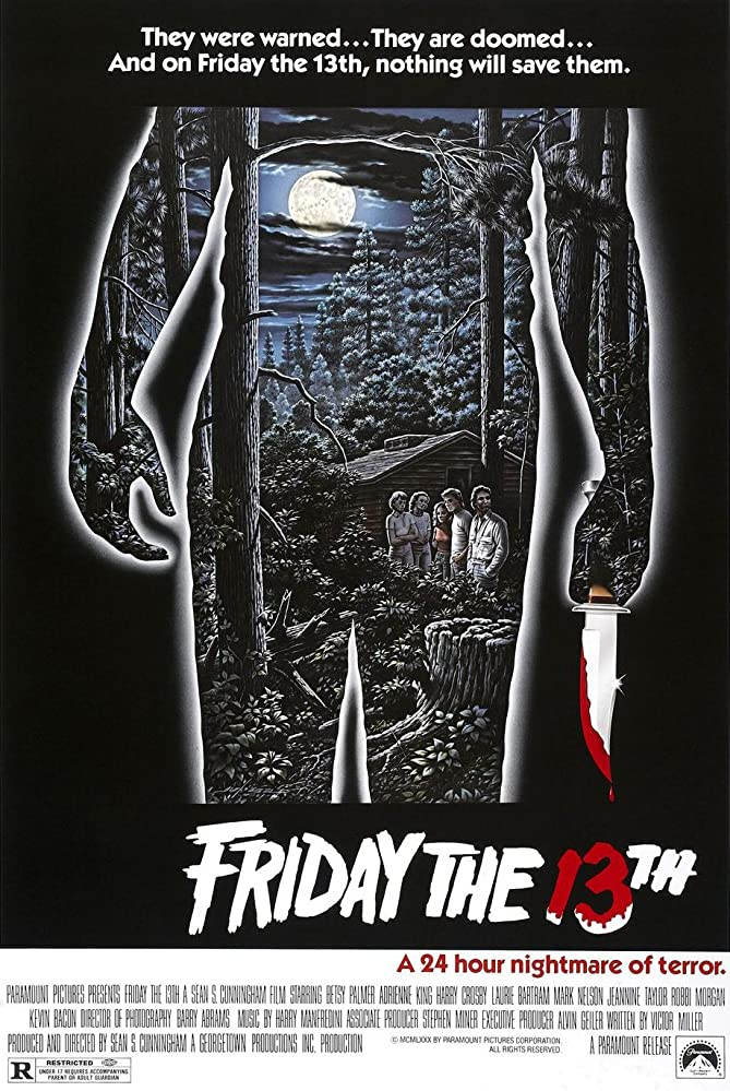 Kevin Bacon, Adrienne King, Ari Lehman, Robbi Morgan, Betsy Palmer, and Jeannine Taylor in Friday the 13th (1980)