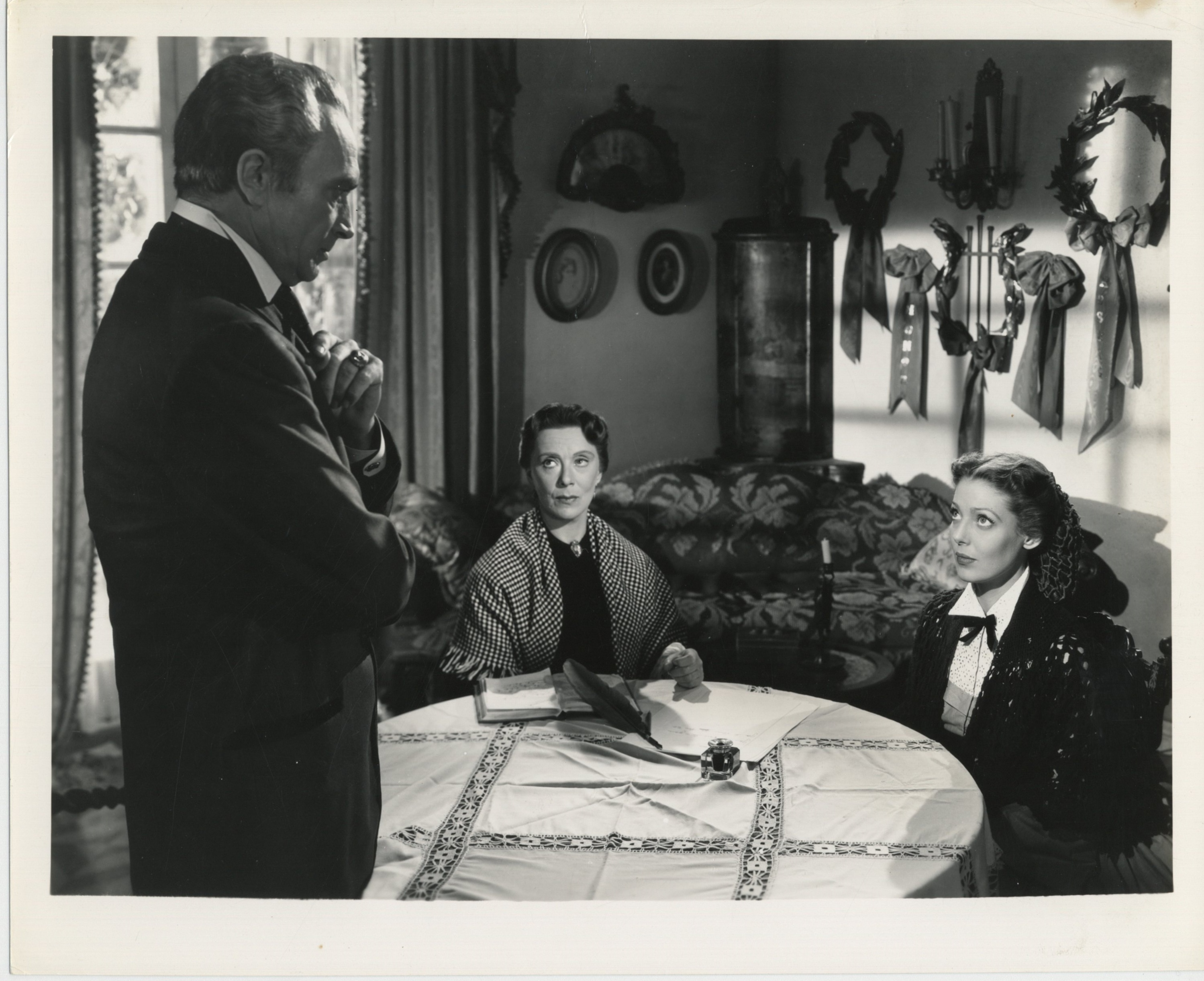 Eugenie Leontovich, Conrad Veidt, and Loretta Young in The Men in Her Life (1941)