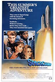 Kelly Preston, Lea Thompson, Tate Donovan, and Larry B. Scott in SpaceCamp (1986)
