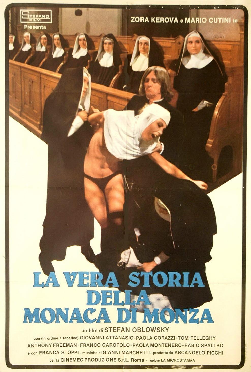 Paola Corazzi, Franco Garofalo, and Zora Kerova in La vera storia della monaca di Monza (1980)