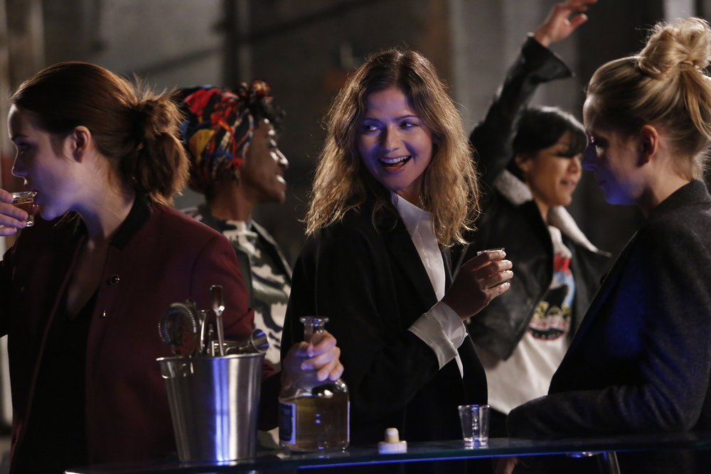 Jill Hennessy, Megan Boone, Anastasia Griffith, Hettienne Park, and Ito Aghayere in The Blacklist (2013)