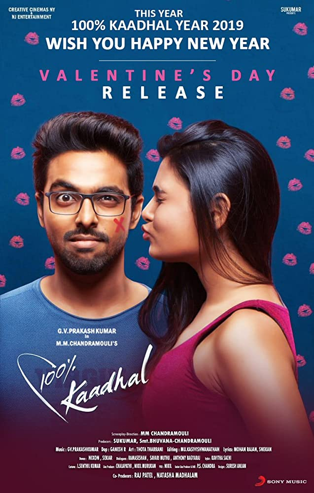 100% Kadhal (2019) Tamil Full Movie 400MB pDVDRip Download