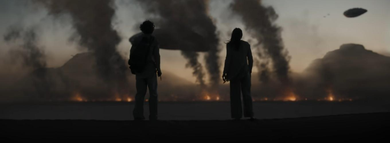 Rebecca Ferguson and Timothée Chalamet in Dune (2021)