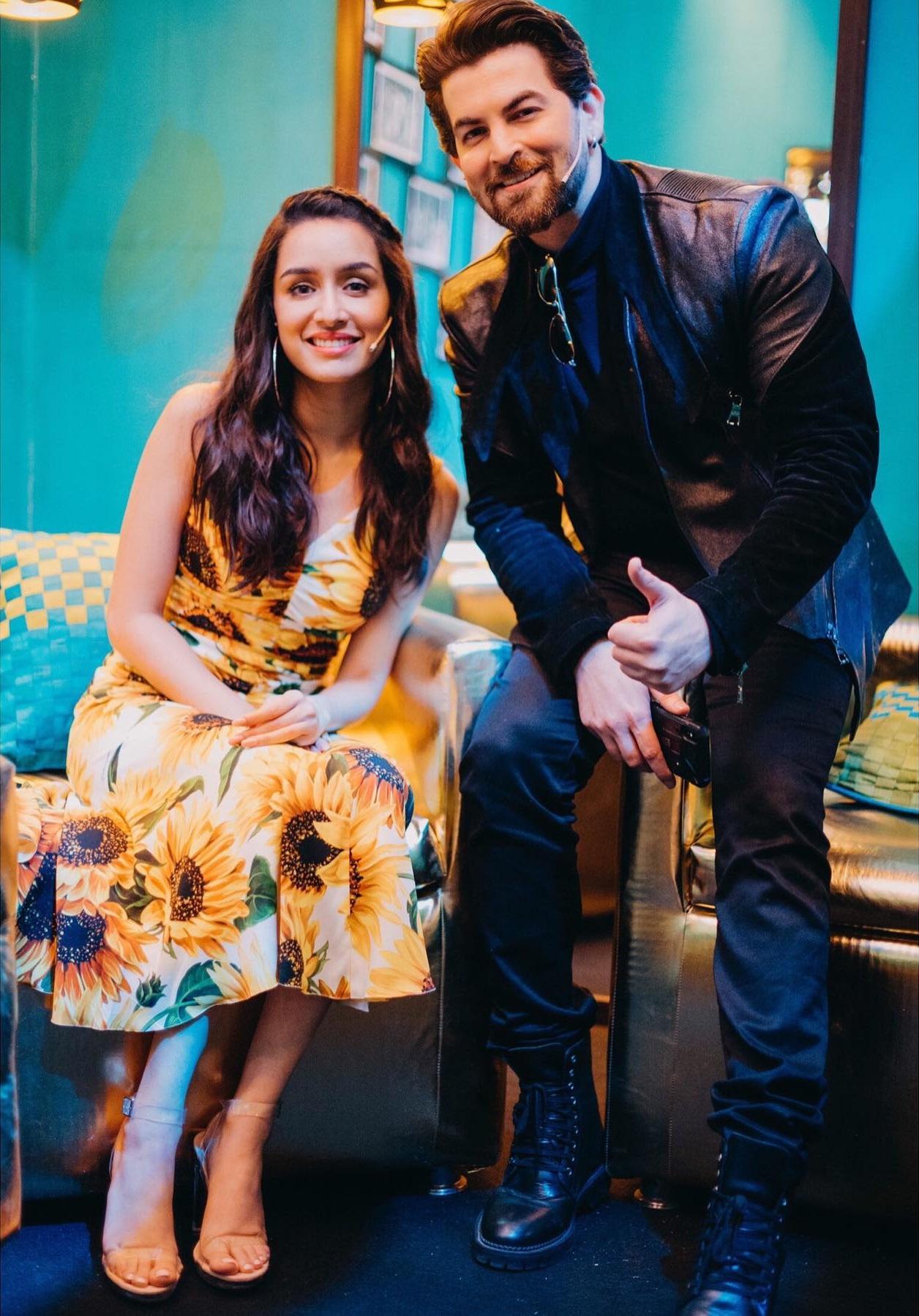 Neil Nitin Mukesh and Shraddha Kapoor in Team Saaho (2019)
