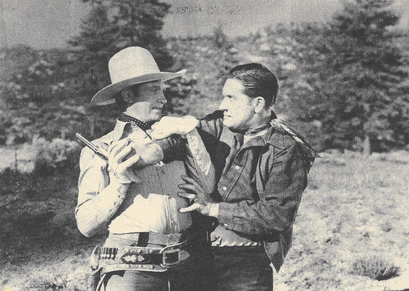 Gene Autry and Jack Ingram in Colorado Sunset (1939)