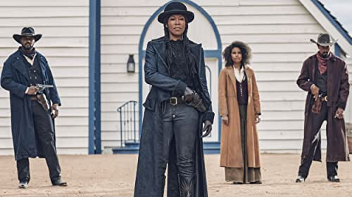 """When outlaw Nat Love (Jonathan Majors) discovers that his enemy Rufus Buck (Idris Elba) is being released from prison he rounds up his gang to track Rufus down and seek revenge. Those riding with him in this assured, righteously new school Western include his former love Stagecoach Mary (Zazie Beetz), his right and left hand men — hot-tempered Bill Pickett (Edi Gathegi) and fast drawing Jim Beckwourth (R.J. Cyler)—and a surprising adversary-turned-ally. Rufus Buck has his own fearsome crew, including """"Treacherous"""" Trudy Smith (Regina King) and Cherokee Bill (LaKeith Stanfield), and they are not a group that knows how to lose. Directed by Jeymes Samuel, written by Samuel and Boaz Yakin, produced by Shawn Carter, James Lassiter, Lawrence Bender and Jeymes Samuel, and featuring a red hot soundtrack and a stunning all-star cast, including Jonathan Majors, Zazie Beetz, Delroy Lindo, LaKeith Stanfield, Danielle Deadwyler, Edi Gathegi, R.J. Cyler, Damon Wayans Jr., Deon Cole with Regina King and Idris Elba revenge has never been served colder."""