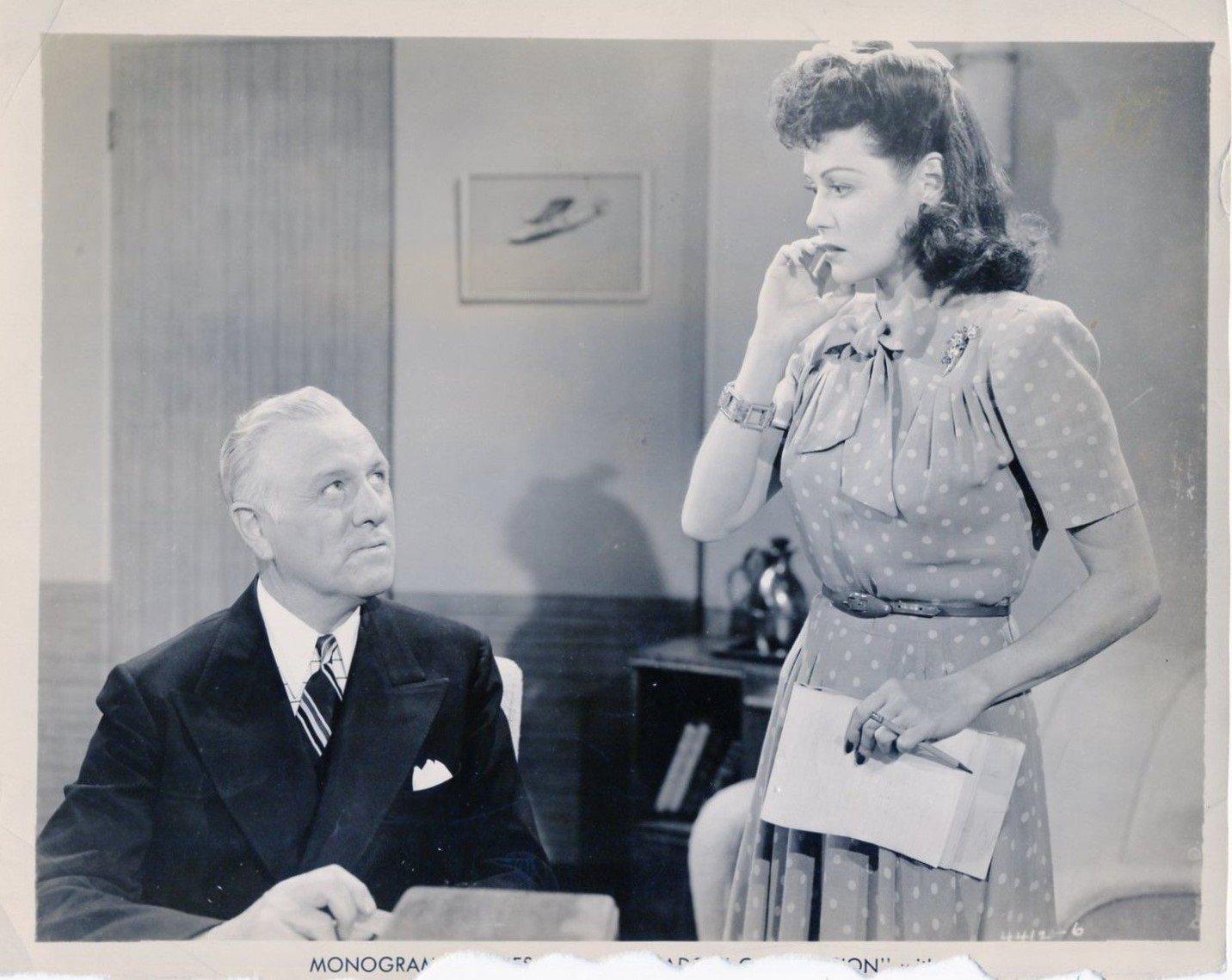 Pierre Watkin and Marjorie Weaver in Shadow of Suspicion (1944)