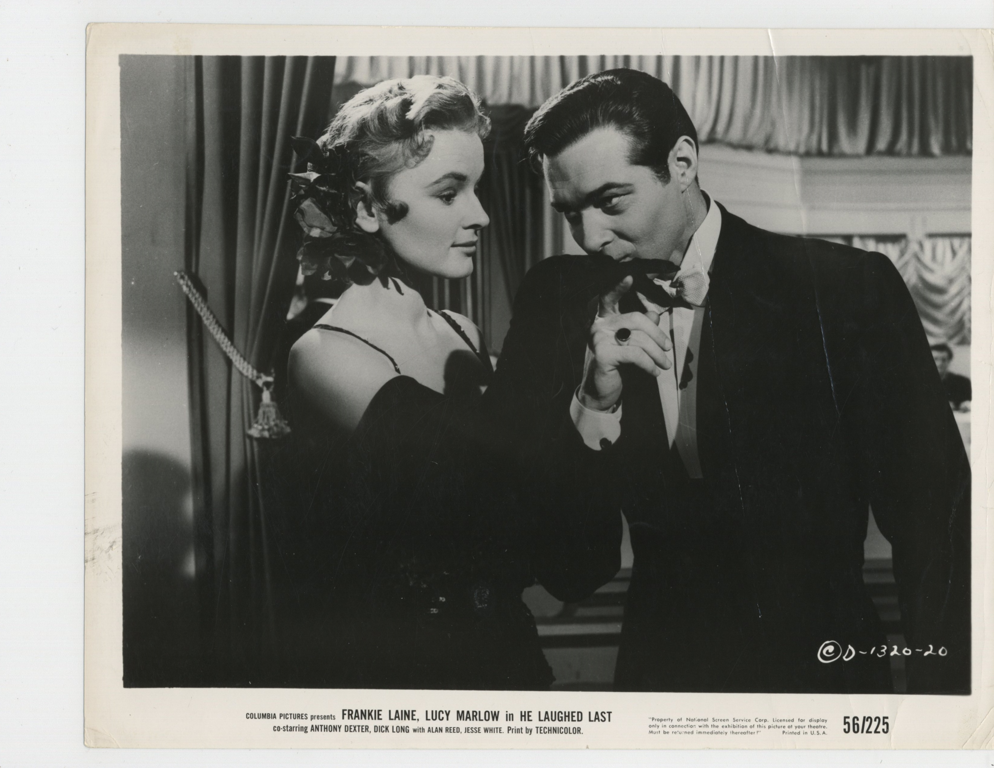 Anthony Dexter and Lucy Marlow in He Laughed Last (1956)