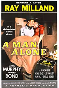 Ray Milland and Mary Murphy in A Man Alone (1955)