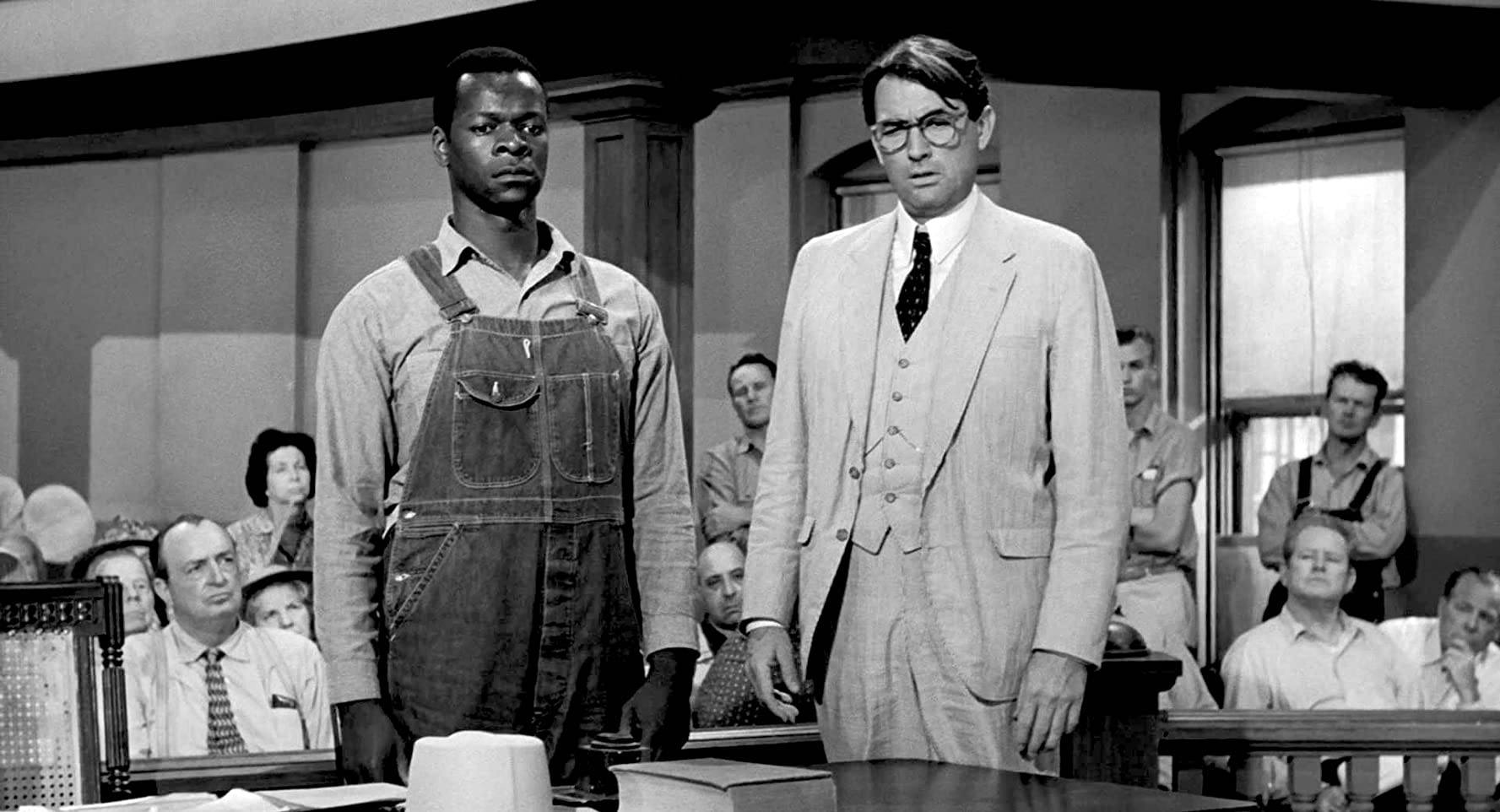 Gregory Peck and Brock Peters in To Kill a Mockingbird 1962