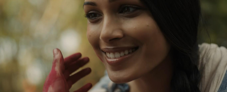 Freida Pinto and Rohan Chand in Mowgli (2019)