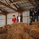 Joseph Gray, Evan Brinkman, and Ashley Bratcher on the set of Princess Cut (2015).