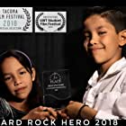 Eleazar Campos and Esther Campos at an event for Hard Rock Hero (2018)