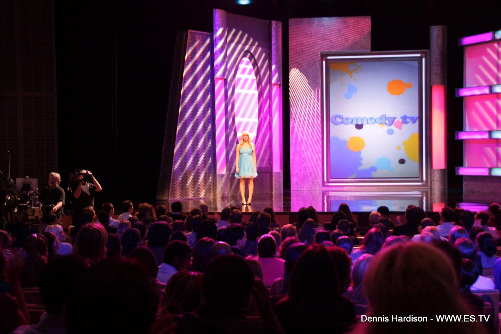 Melinda Hill hosting ComedyTV series 2009.