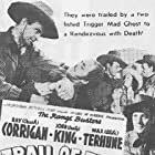 Ray Corrigan, I. Stanford Jolley, John 'Dusty' King, and Dorothy Short in Trail of the Silver Spurs (1941)