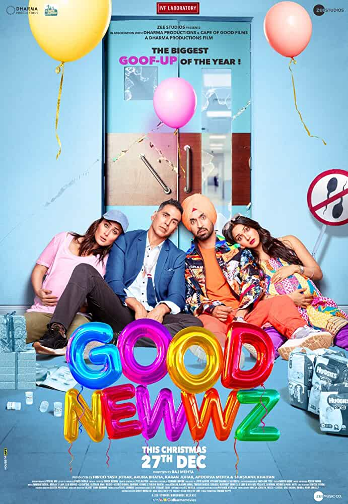Good Newwz (2019) Hindi 720p PreDVDRip Bollywood Movie [1.2GB]