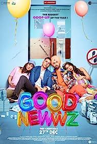 Kareena Kapoor, Akshay Kumar, Diljit Dosanjh, and Kiara Advani in Good Newwz (2019)