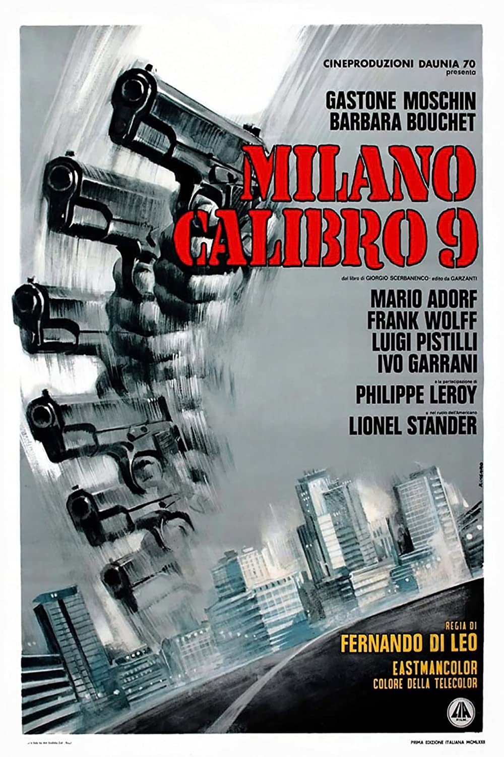 Milano Kaliber 9: Directed by Fernando Di Leo. With Gastone Moschin, Barbara Bouchet, Mario Adorf, Frank Wolff. A former gangster is forced to resume his old lifestyle when his violent, jealous ex-colleagues and the police believe that he knows the...