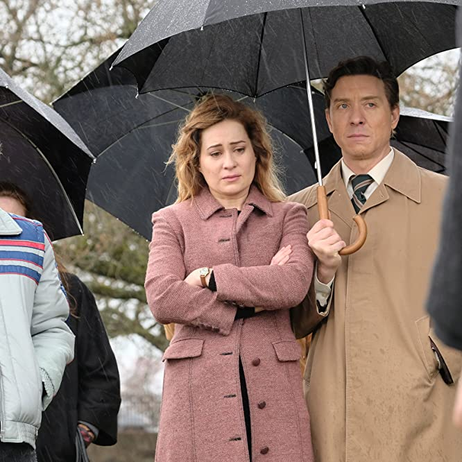Shawn Doyle, Camille Sullivan, and Jared Ager-Foster in Unspeakable (2019)