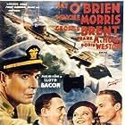 Pat O'Brien, George Brent, Wayne Morris, and Doris Weston in Submarine D-1 (1937)