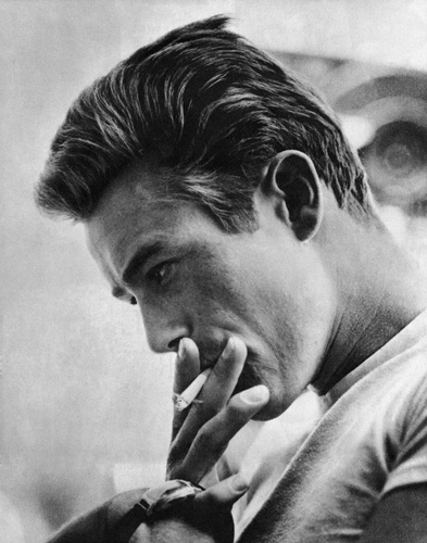 James Dean and Sid Avery in Rebel Without a Cause (1955)