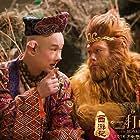 Aaron Kwok and Shenyang Xiao in Xi you ji zhi: Sun Wukong san da Baigu Jing (2016)