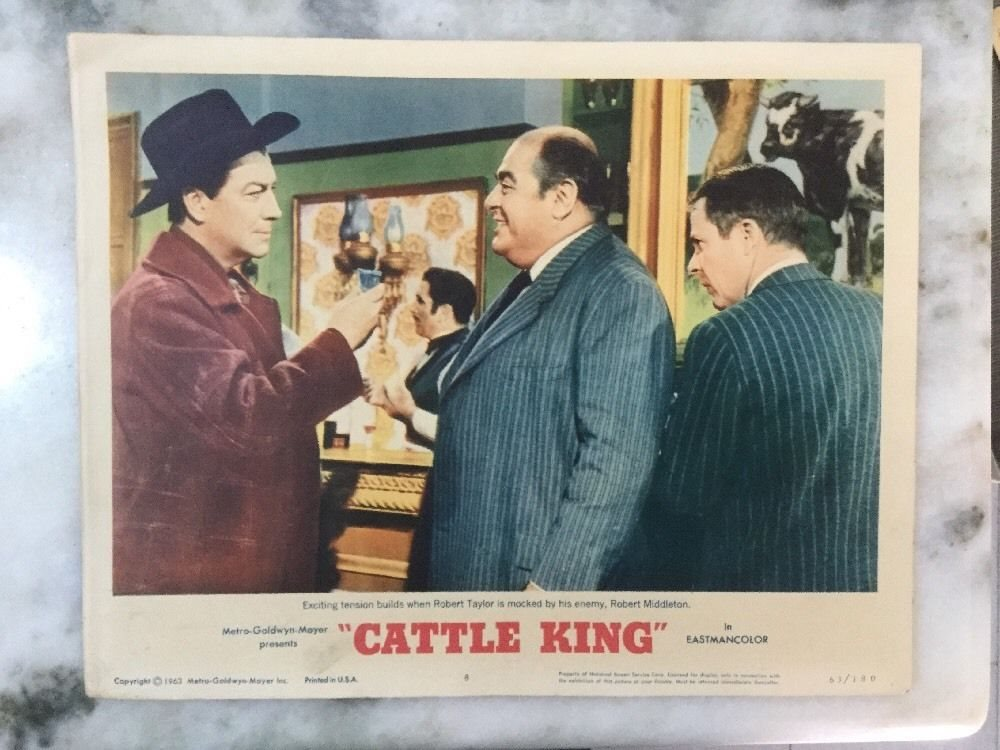 Robert Taylor, Robert Middleton, and William Windom in Cattle King (1963)