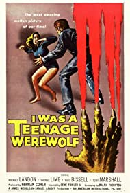 Michael Landon and Yvonne Lime in I Was a Teenage Werewolf (1957)