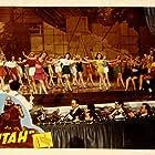 Roy Rogers, Melva Anstead, Lucille Byron, Geraldine Farnum, Rosemonde James, Marian Kerrigan, Rose Marie Morel, Patti Posten, Beverly Reedy, Arlyn Roberts, Dorothy Stevens, and Trigger in Utah (1945)