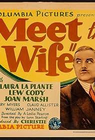 Claud Allister, Laura La Plante, and Joan Marsh in Meet the Wife (1931)