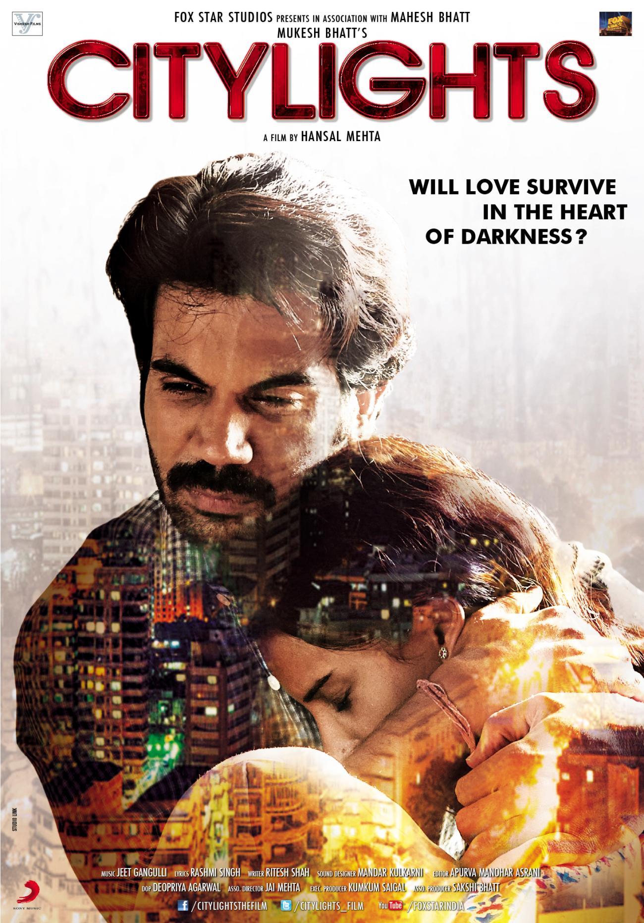 CityLights (2014) Hindi WEB-DL - 480P   720P - x264 - 300MB   1.1GB - Download & Watch Online  Movie Poster - mlsbd