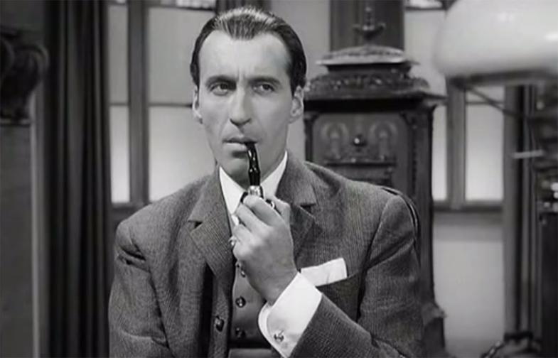 Christopher Lee in Sherlock Holmes und das Halsband des Todes (1962)