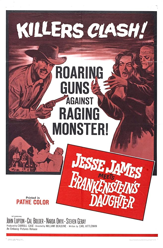 Cal Bolder, John Lupton, and Narda Onyx in Jesse James Meets Frankenstein's Daughter (1966)