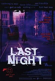 Last Night(1998) Poster - Movie Forum, Cast, Reviews