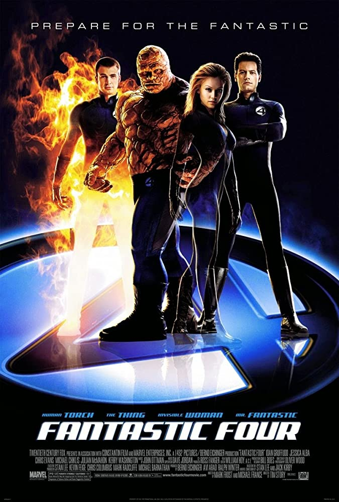 Jessica Alba, Michael Chiklis, Chris Evans, and Ioan Gruffudd in Fantastic Four (2005)