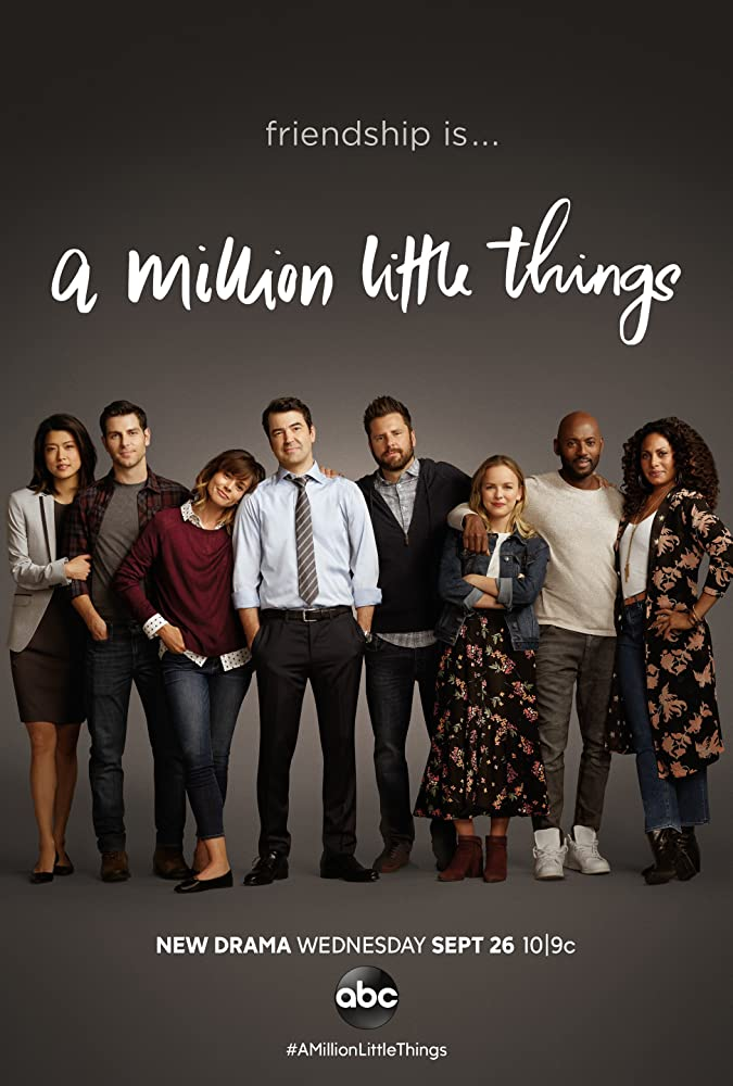 Ron Livingston, Romany Malco, Grace Park, James Roday, David Giuntoli, Christina Marie Moses, Allison Miller, and Christina Ochoa in A Million Little Things (2018)