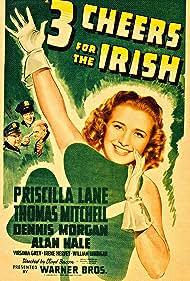 Alan Hale, Priscilla Lane, Thomas Mitchell, and Dennis Morgan in 3 Cheers for the Irish (1940)