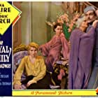 Mary Brian, Ina Claire, Henrietta Crosman, and Fredric March in The Royal Family of Broadway (1930)