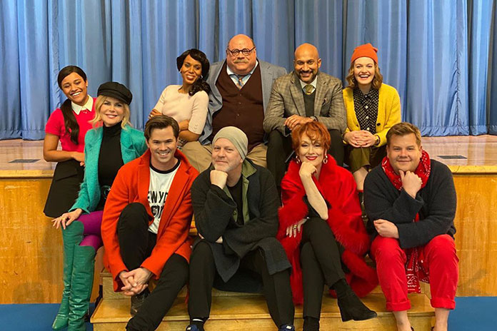 Nicole Kidman, Meryl Streep, James Corden, Ryan Murphy, Andrew Rannells, Kerry Washington, Jo Ellen Pellman, Keegan-Michael Key, and Ariana DeBose in The Prom (2020)